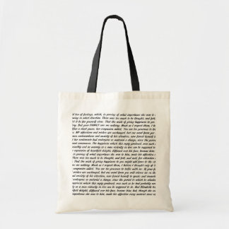 Pride and Prejudice Text Tote Bag