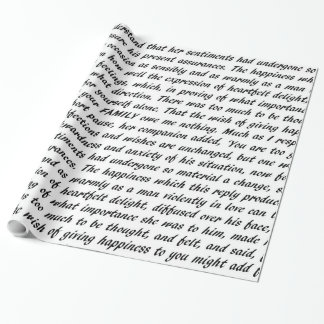 Pride and Prejudice Text Wrapping Paper
