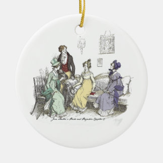 Pride and Prejudice - The Netherfield Ball Invitat Round Ceramic Decoration