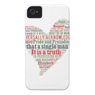 Pride and Prejudice Word Cloud Case-Mate iPhone 4 Cases