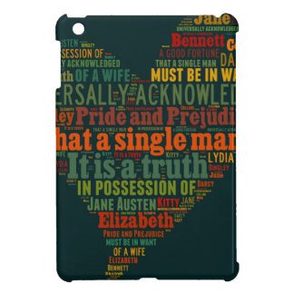 Pride and Prejudice Word Cloud iPad Mini Cases
