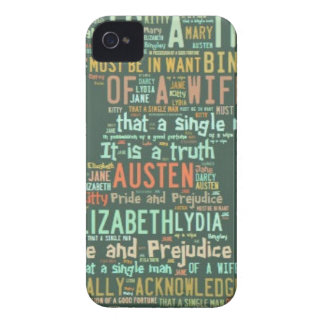 Pride and Prejudice Word Cloud iPhone 4 Case