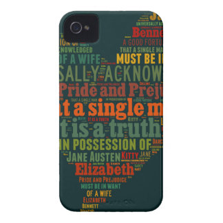 Pride and Prejudice Word Cloud iPhone 4 Case-Mate Case