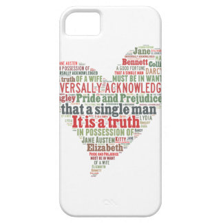 Pride and Prejudice Word Cloud iPhone 5 Cases