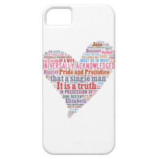 Pride and Prejudice Word Cloud Pink Case For The iPhone 5
