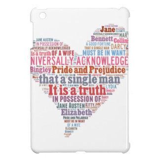 Pride and Prejudice Word Cloud Pink iPad Mini Cover