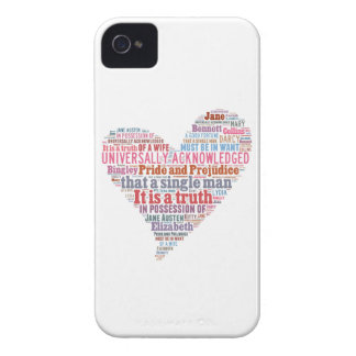 Pride and Prejudice Word Cloud Pink iPhone 4 Cover