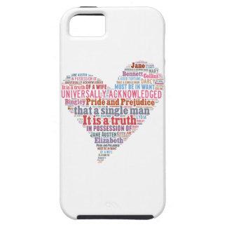 Pride and Prejudice Word Cloud Pink iPhone 5 Cases