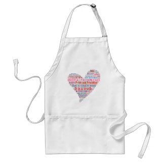 Pride and Prejudice Word Cloud Pink Standard Apron