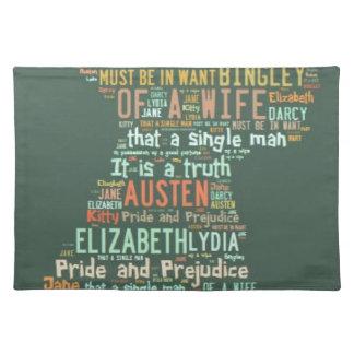 Pride and Prejudice Word Cloud Placemat