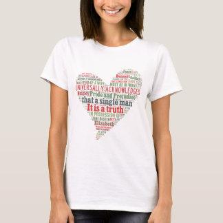 Pride and Prejudice Word Cloud T-Shirt