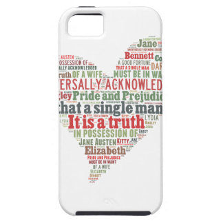 Pride and Prejudice Word Cloud Tough iPhone 5 Case