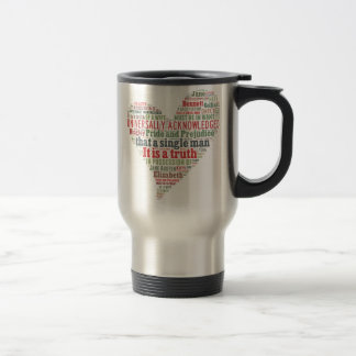 Pride and Prejudice Word Cloud Travel Mug