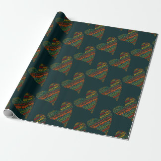 Pride and Prejudice Word Cloud Wrapping Paper