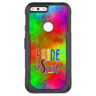Pride and Spirit Bright Word Art LGBT Rainbow OtterBox Commuter Google Pixel XL Case
