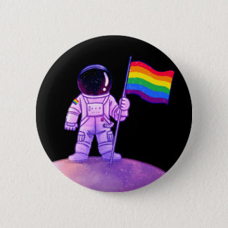 Pride Astronaut [Gay] 6 Cm Round Badge
