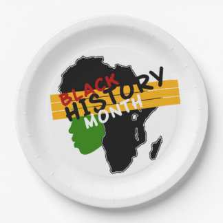 Pride BHM Party Paper Plates