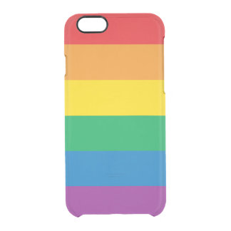 Pride | Colorful Rainbow Design Clear iPhone 6/6S Case