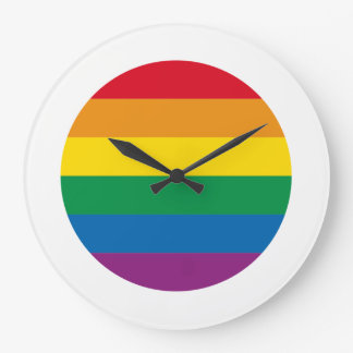 Pride | Colorful Rainbow Design Large Clock