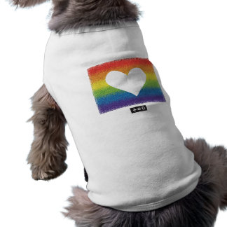 Pride Doggie Ribbed Tank Top Sleeveless Dog Shirt