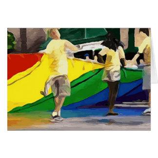Pride Flag in Parade Card