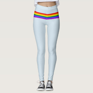 Pride flag rainbow custom Leggings baby blue