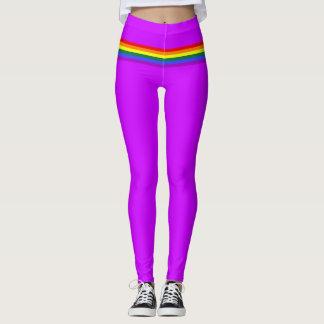 Pride flag rainbow custom Leggings bright purple