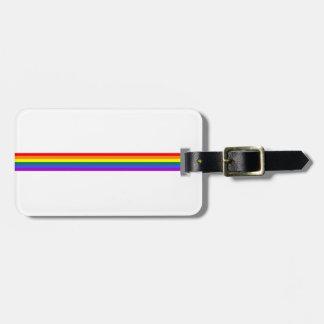 Pride flag rainbow custom luggage tag