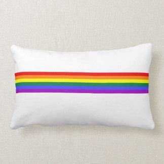 Pride flag rainbow custom pillow