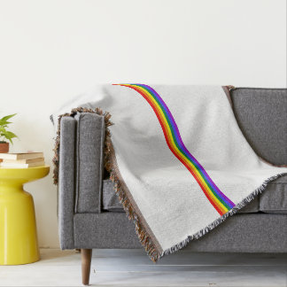 Pride flag rainbow custom throw