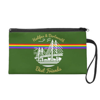 Pride flag rainbow custom  wristlet purse