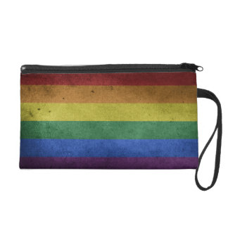 Pride flag rainbow  mini clutch Wristlet