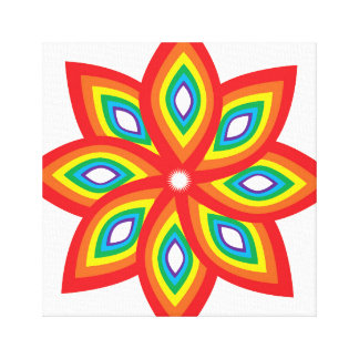 Pride Flower Canvas Print