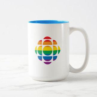 Pride Gem Two-Tone Coffee Mug