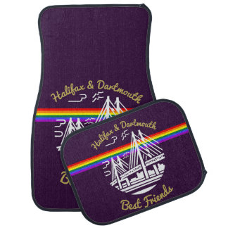 Pride Halifax Dartmouth best friends Car Mats