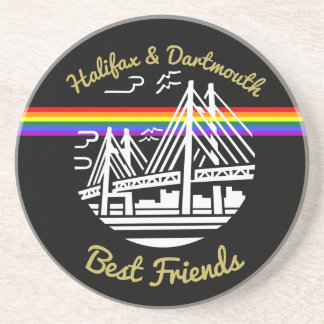 Pride Halifax Dartmouth best friends coaster
