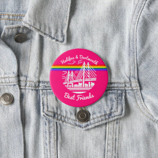 Pride Halifax Dartmouth best friends pin Badge