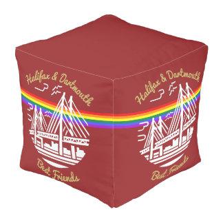 Pride Halifax Dartmouth best friends rainbow pouf