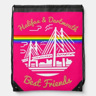 Pride Halifax Dartmouth friends drawstring bag