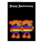 Pride Heart Teddy Bears Happy Anniversary Greeting Cards