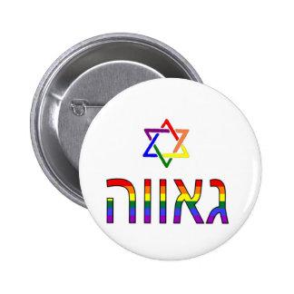 """""""Pride"""" in Hebrew Pins"""