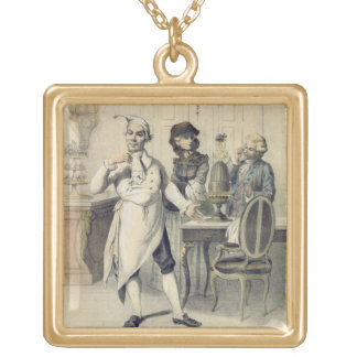 Pride in the Kitchen, from a series of prints depi Gold Plated Necklace