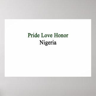 Pride Love Honor Nigeria Poster