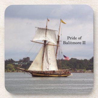 Pride of Baltimore II 6 plastic coasters
