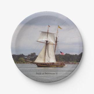 Pride of Baltimore II paper plate