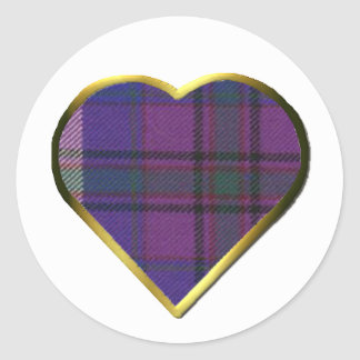 Pride of Scotland Heart Envelope Seal Round Sticker