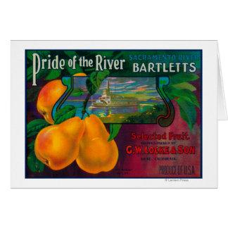 Pride of the River Pear Crate LabelLocke, CA Greeting Card