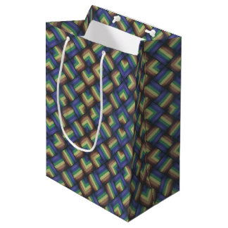 Pride Party -- LGBT Gay Pride Rainbow Flag Pattern Medium Gift Bag