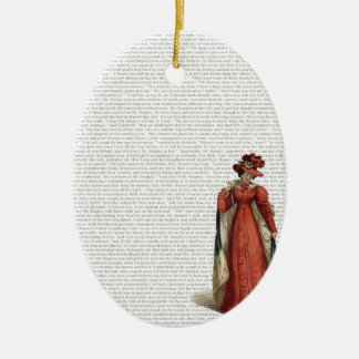 Pride & Prejudice Ceramic Ornament