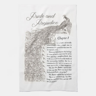 Pride & Prejudice Chapter 1 kitchen towel